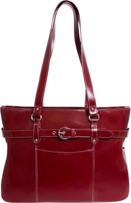 Siamod Monterosso Collection Serra Ladies 15.6 Laptop Tote Cherry Red - Siamod Women's Business Bags
