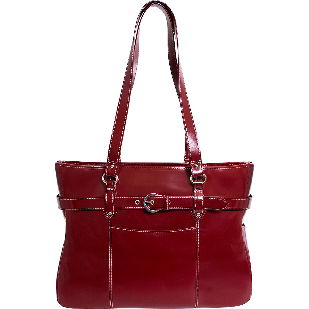 Siamod Monterosso Collection Serra Ladies 15.6 Laptop Tote Cherry Red - Siamod Womens Business Bags - Work Bags & Briefcases, Women's Business Bags