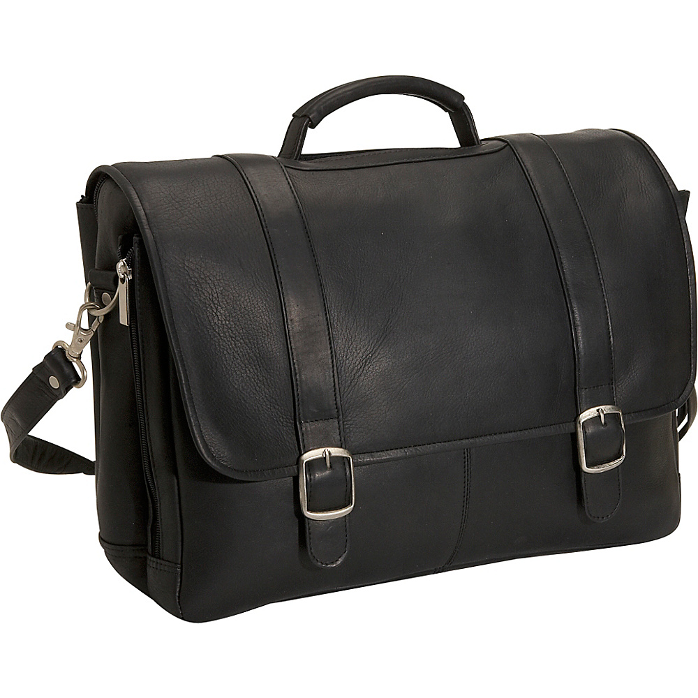 David King & Co. Porthole Laptop Briefcase Black - David King & Co. Non-Wheeled Business Cases