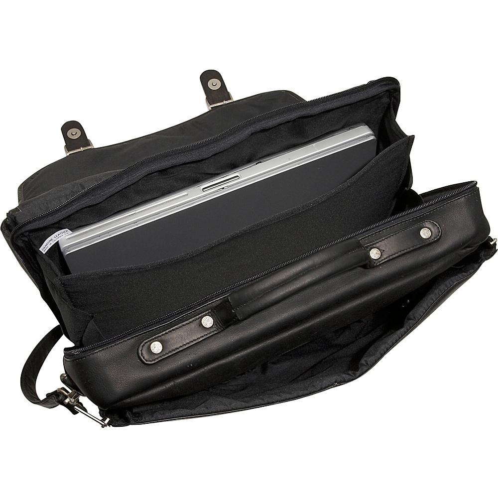 David King & Co. Porthole Laptop Briefcase Tan - David King & Co. Non-Wheeled Business Cases