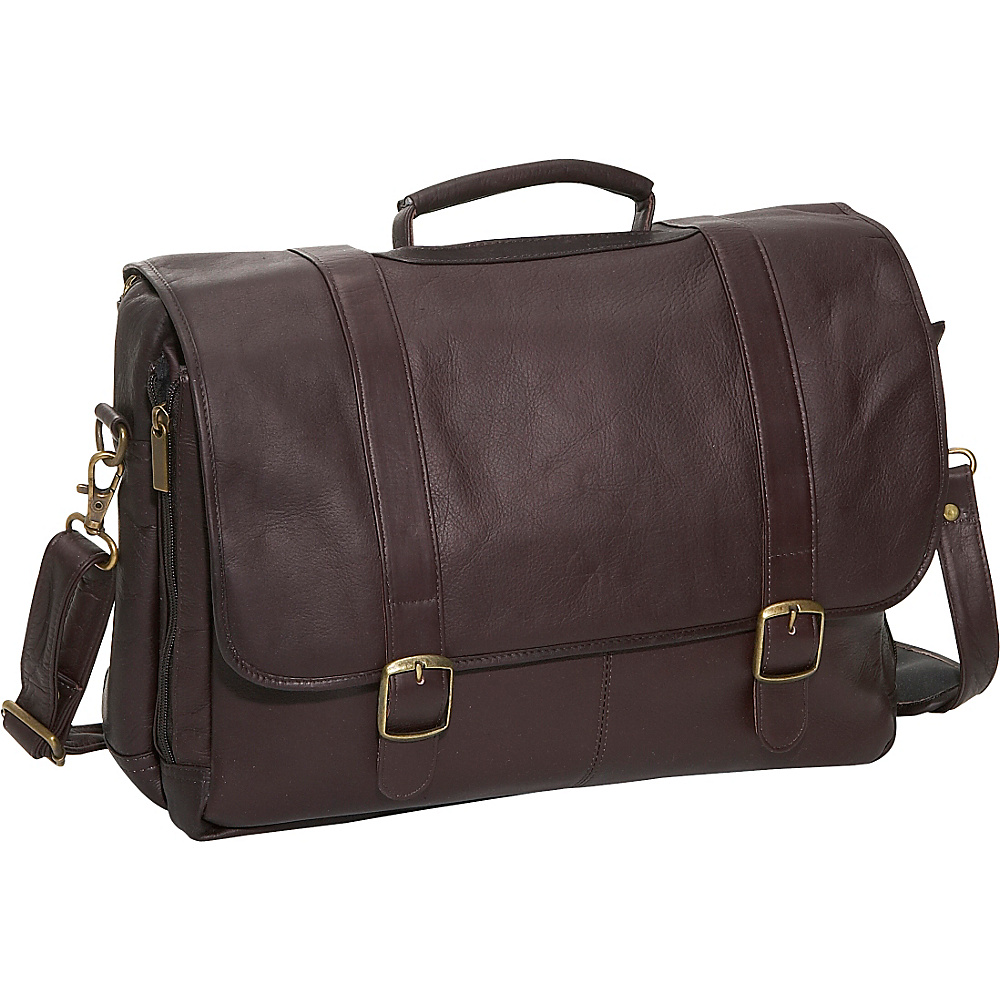 David King & Co. Porthole Laptop Briefcase Cafe - David King & Co. Non-Wheeled Business Cases - Work Bags & Briefcases, Non-Wheeled Business Cases