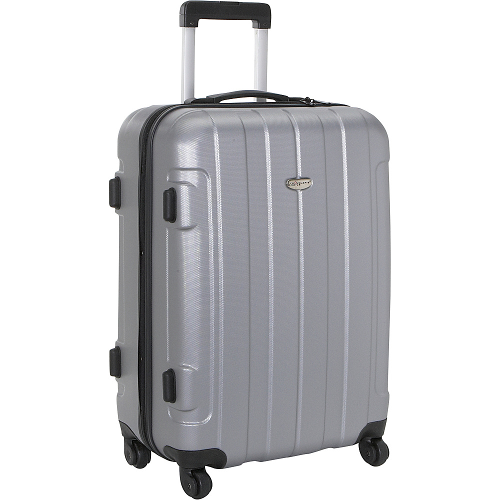 Travelers Choice Rome 25 in. Hardside Spinner Upright Silver Grey - Travelers Choice Hardside Checked - Luggage, Hardside Checked