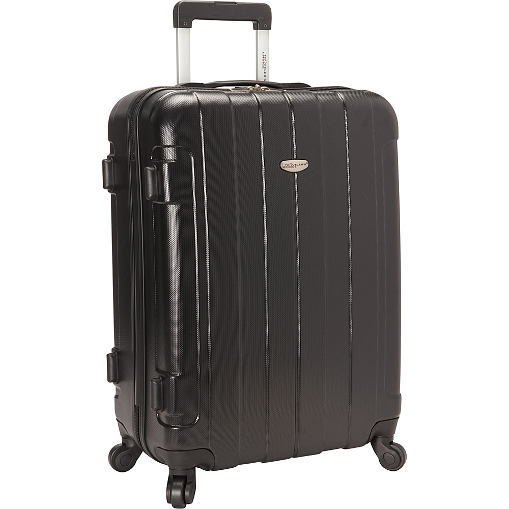 Travelers Choice Rome 25 in. Hardside Spinner Upright Black - Travelers Choice Hardside Checked - Luggage, Hardside Checked