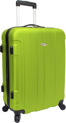 Traveler's Choice Rome 25 in. Hardside Spinner Upright Green - Traveler's Choice Hardside Checked