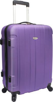 Traveler's Choice Rome 25 in. Hardside Spinner Upright Purple - Traveler's Choice Hardside Checked