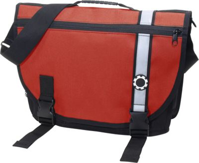 DadGear Courier Retro Stripe Chili Pepper Red - DadGear Diaper Bags & Accessories