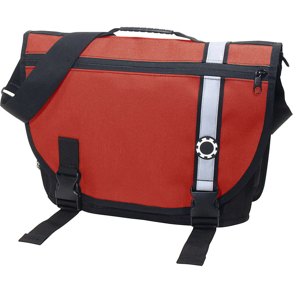DadGear Courier Retro Stripe Chili Pepper Red - DadGear Diaper Bags & Accessories - Handbags, Diaper Bags & Accessories