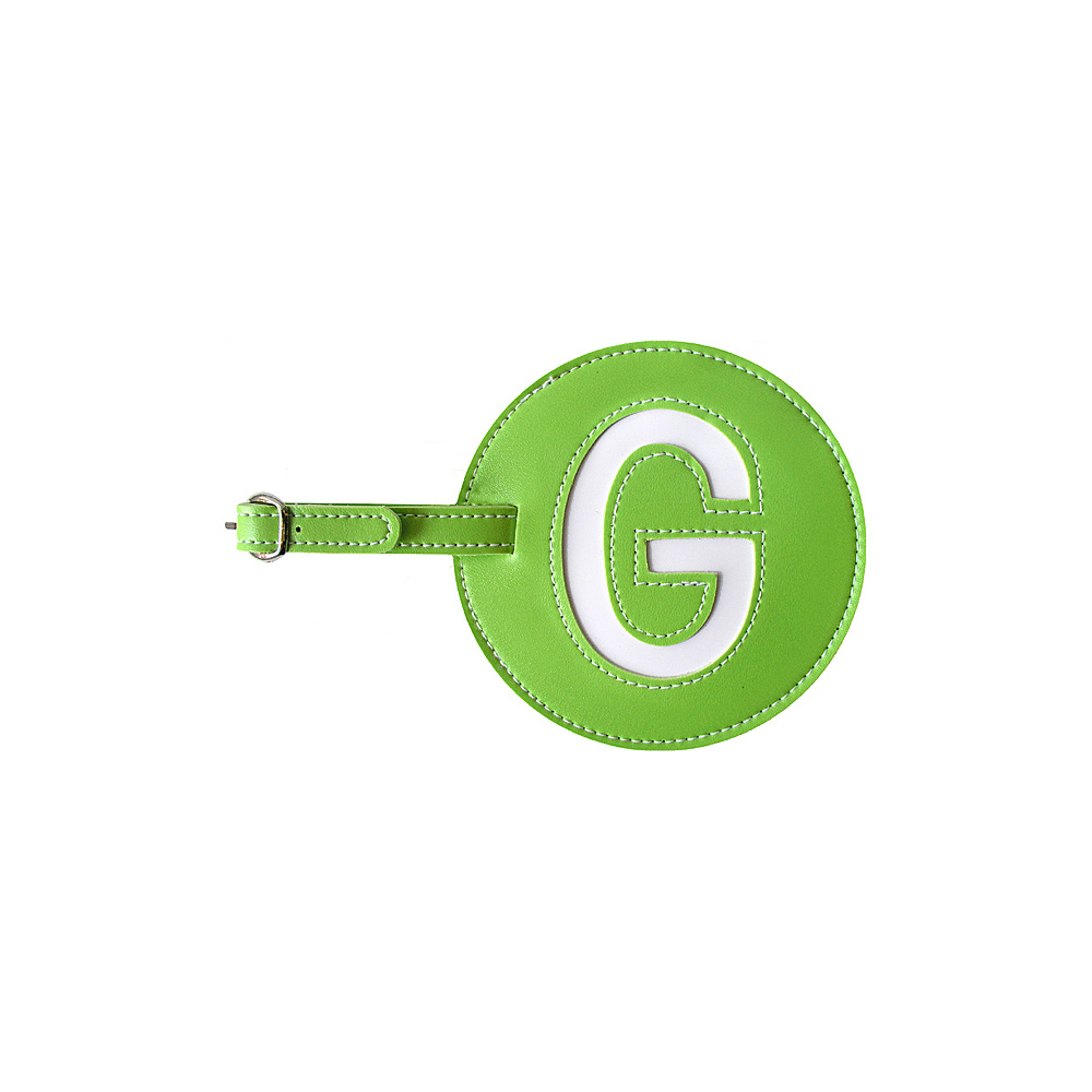 pb travel Initial G Luggage Tag Set of 2 Green pb travel Luggage Accessories