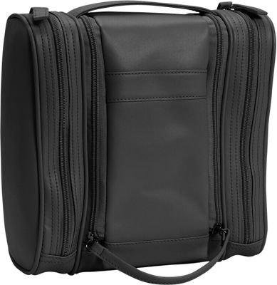 Royce Leather Deluxe Toiletry Bag - Black