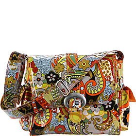 Midi Coated Buckle Bag Hannah's Paisley
