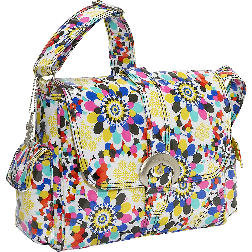 Kalencom Midi Coated Buckle Bag - Petals - Handbags, Diaper Bags & Accessories