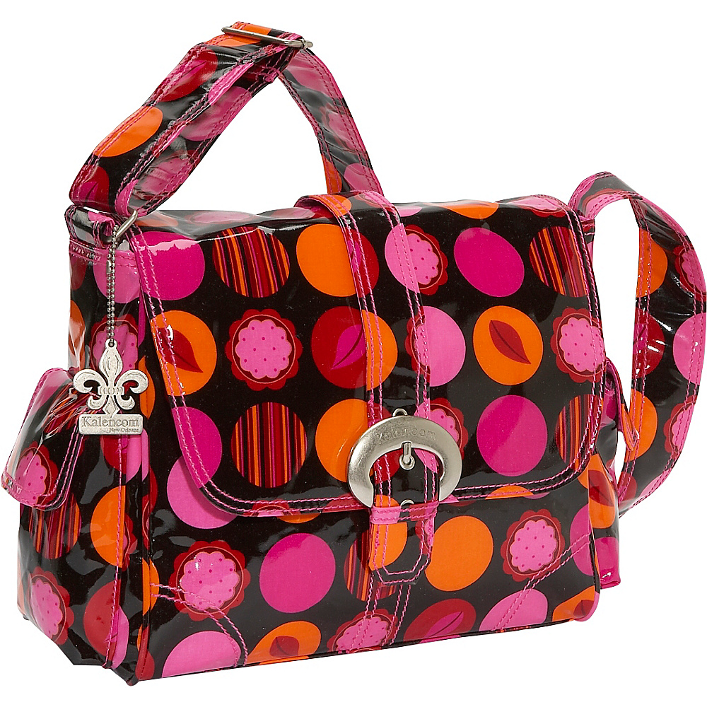Kalencom Midi Coated Buckle Bag - Mod Dots Fire - Handbags, Diaper Bags & Accessories