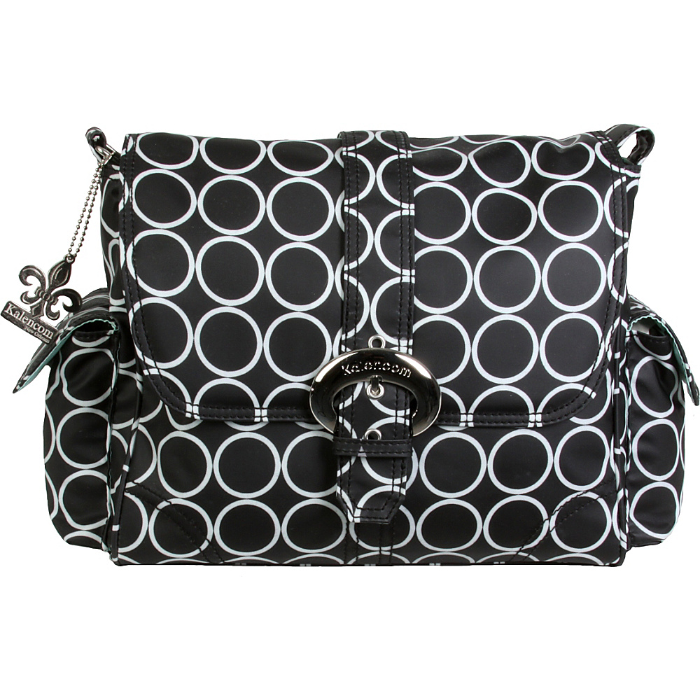 Kalencom Midi Coated Buckle Bag Black Holes Kalencom Diaper Bags Accessories