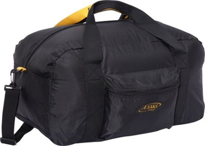 "Image of A. Saks 22""Carry-On Nylon Duffel Bag With Pouch - Black"