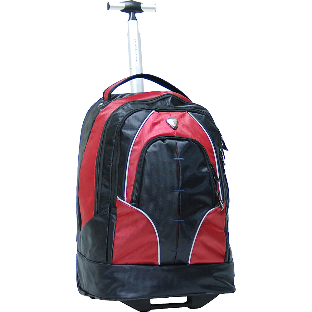 "CALPAK Rickster 20"" Notebook Rolling Backpack Red - CALPAK Rolling Backpacks"