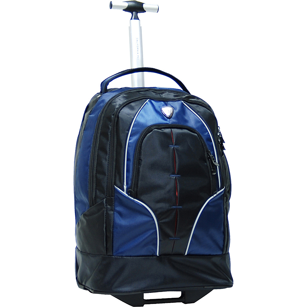 "CALPAK Rickster 20"" Notebook Rolling Backpack Navy - CALPAK Rolling Backpacks"