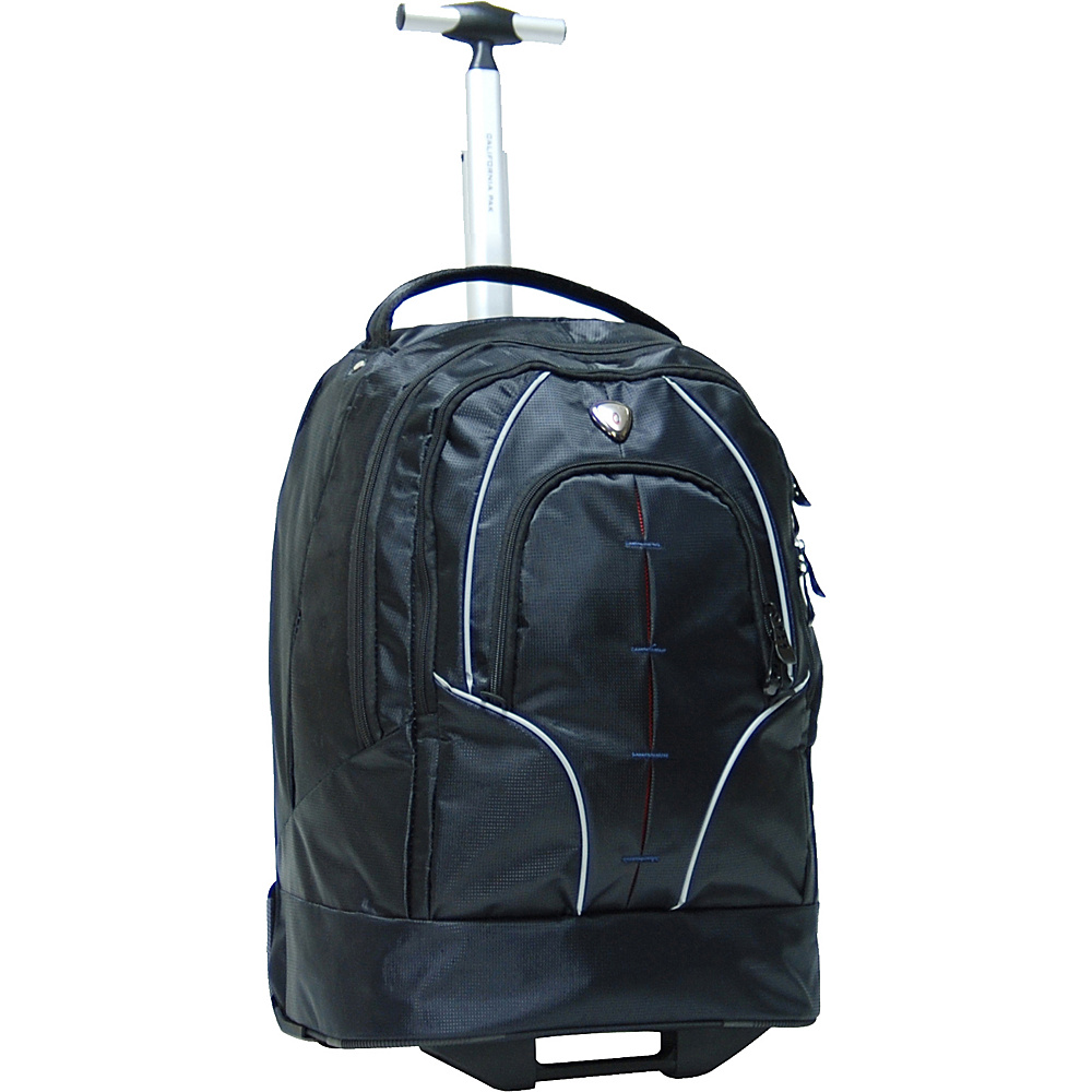 "CALPAK Rickster 20"" Notebook Rolling Backpack Black - CALPAK Rolling Backpacks"