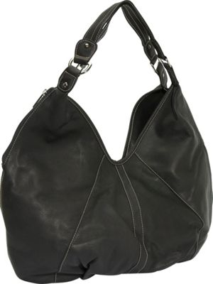 Piel Ladies Large Hobo - Black