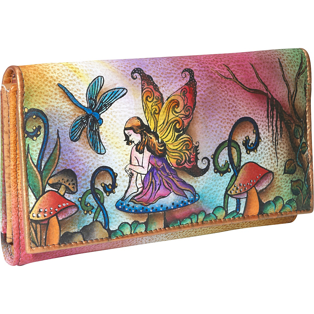 Anuschka Multi Pocket Wallet/Clutch Enchanted Fairy - Anuschka Womens Wallets - Women's SLG, Women's Wallets