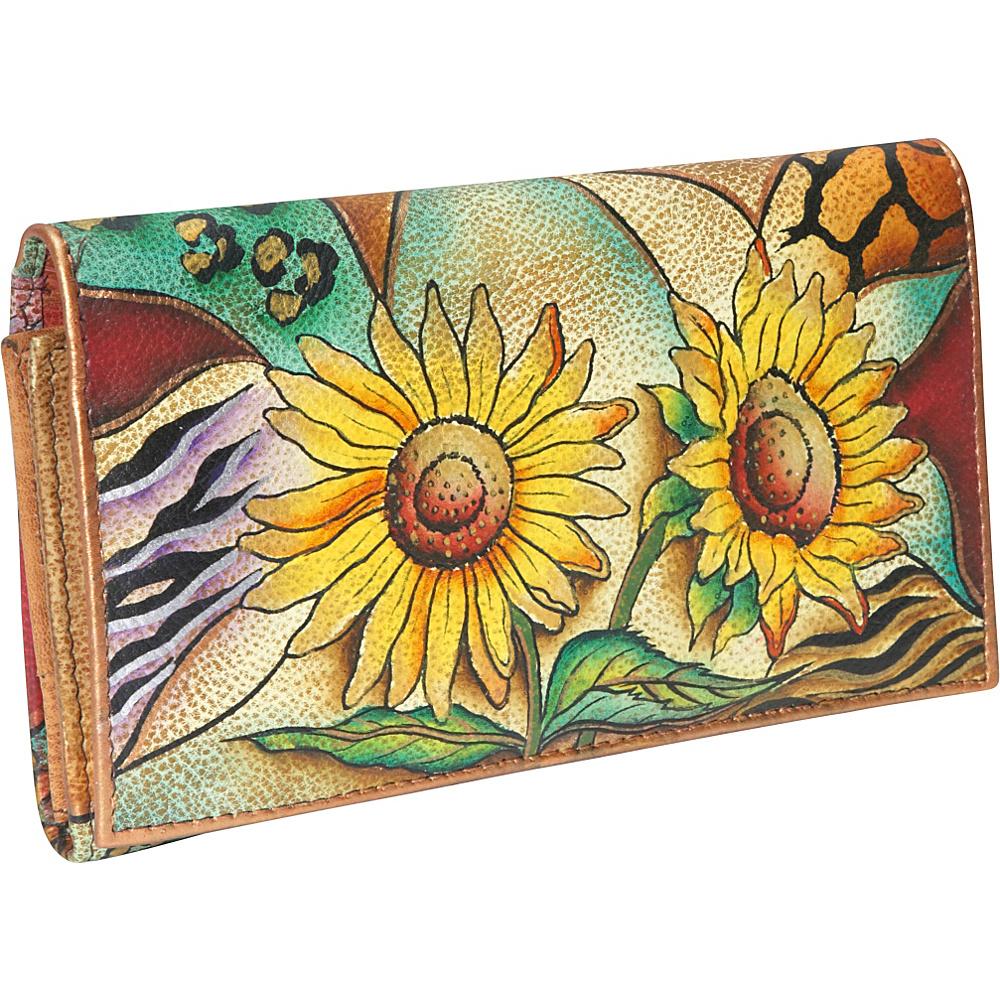 Anuschka Multi Pocket Wallet/Clutch: Sunflower Safari - Women's SLG, Women's Wallets