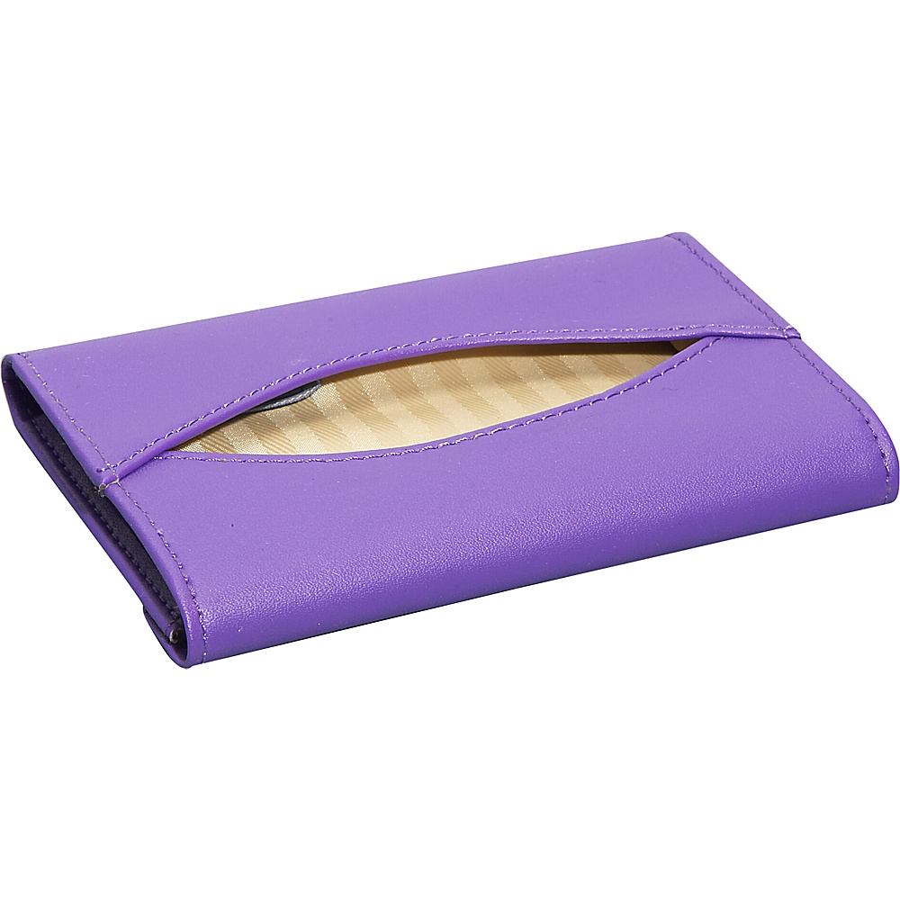 Royce Leather Mini Tissue Holder - Purple - Work Bags & Briefcases, Business Accessories