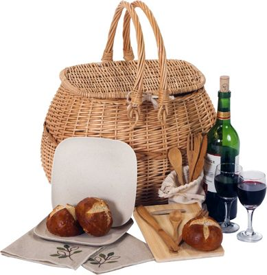 Picnic Plus Eco Natural 2 Person Picnic Basket