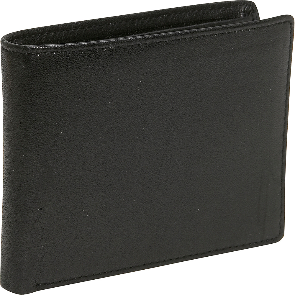 Budd Leather Cowhide Leather Slim Wallet Black