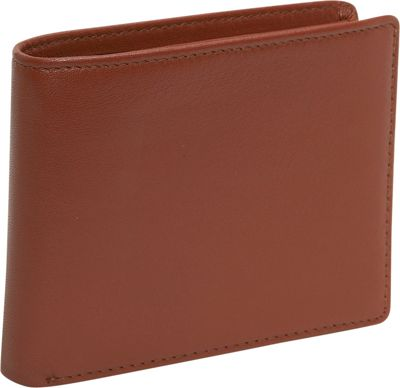 Budd Leather Cowhide Leather Slim Wallet - Brown
