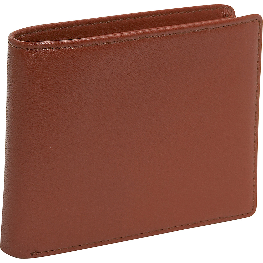 Budd Leather Cowhide Leather Slim Wallet Brown