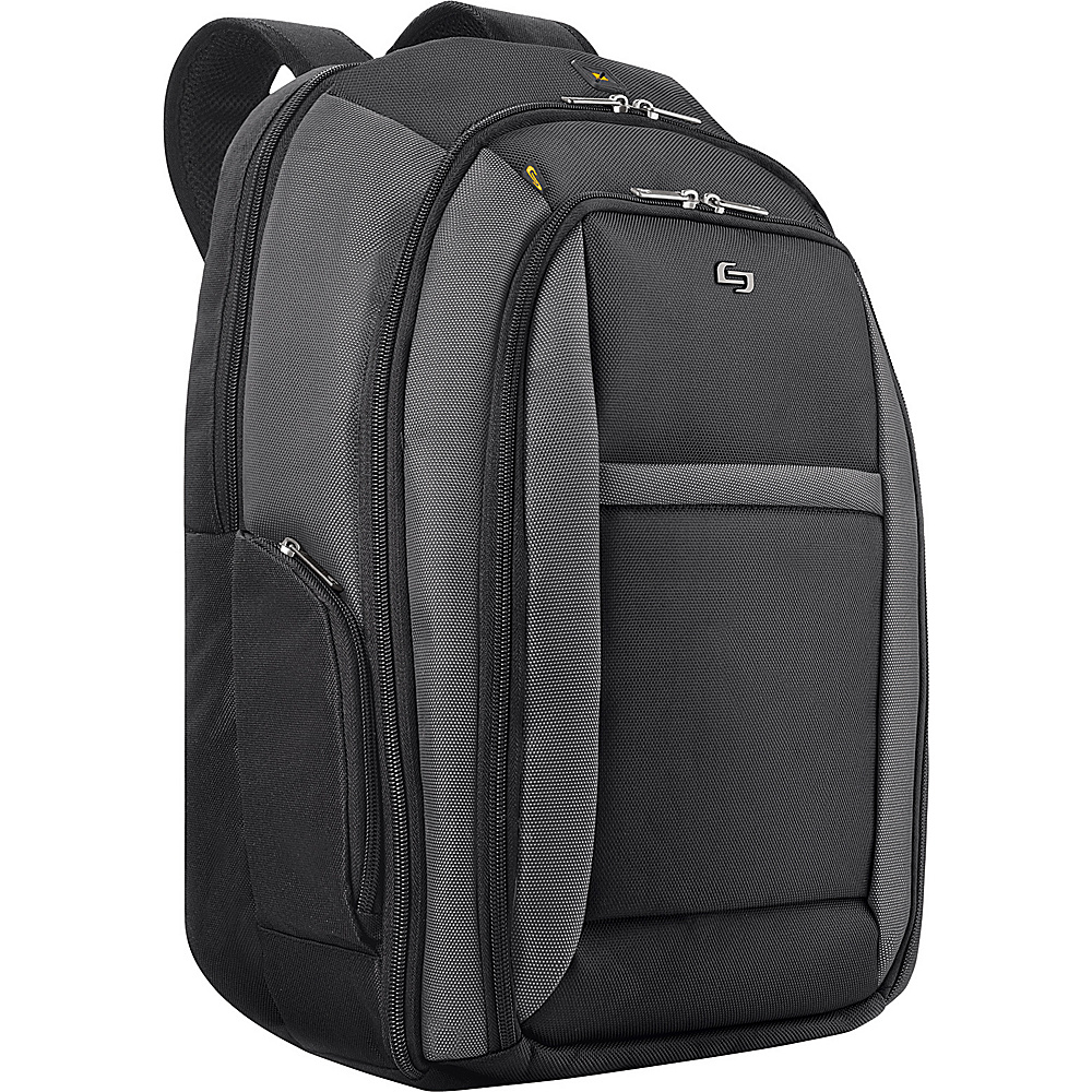 SOLO Sterling CheckFast Laptop Backpack Black