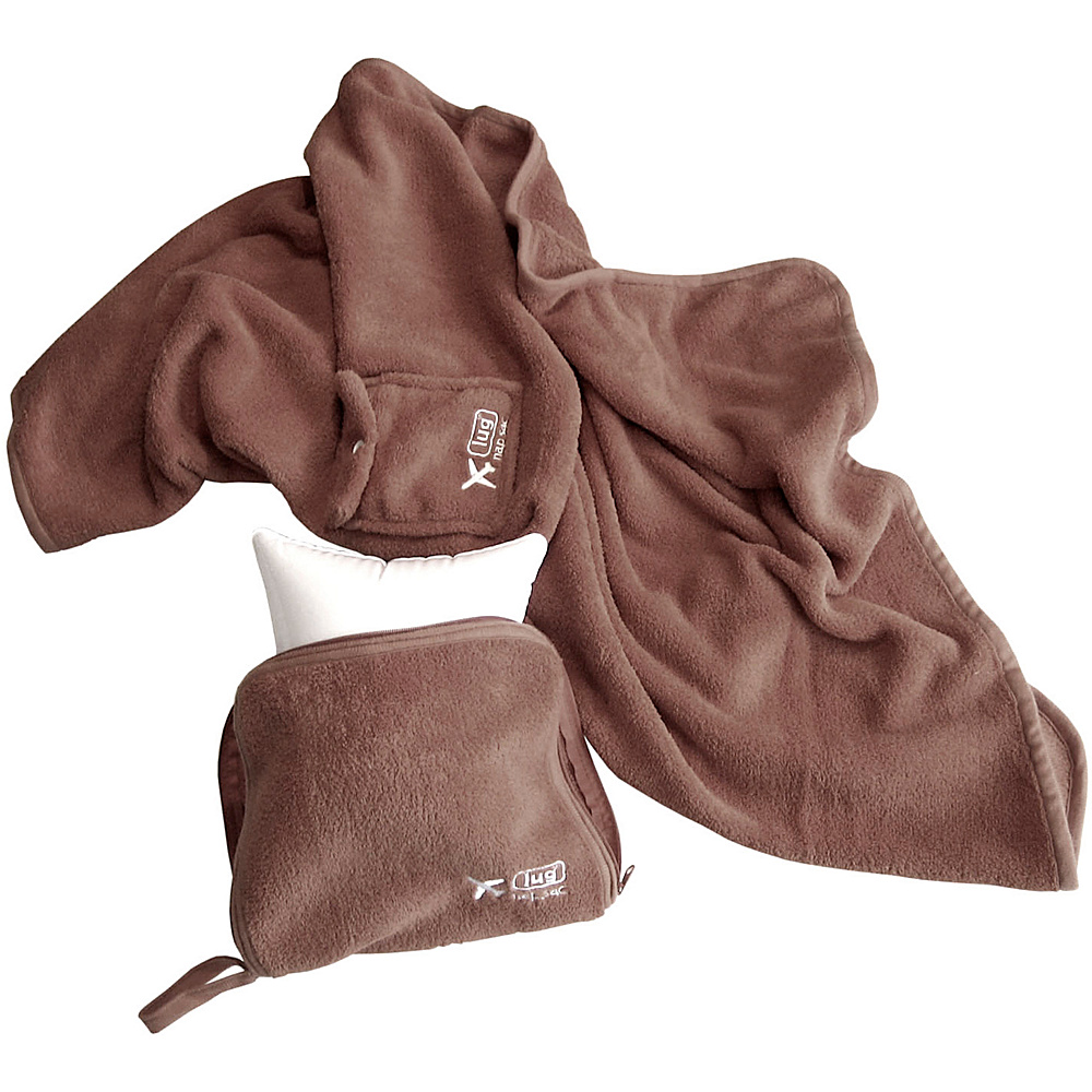 Lug Life Nap Sac Blanket & Pillow - Chocolate - Travel Accessories, Travel Pillows & Blankets