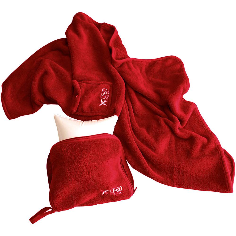 Lug Life Nap Sac Blanket Pillow Crimson