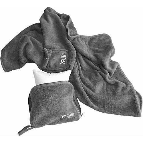 Lug Life Nap Sac Blanket & Pillow - Fog