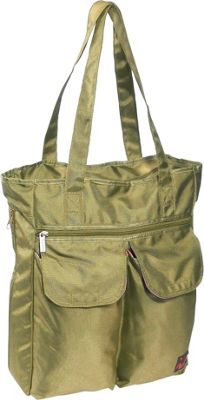 Ice Red UNI Cargo Laptop Tote - Lime