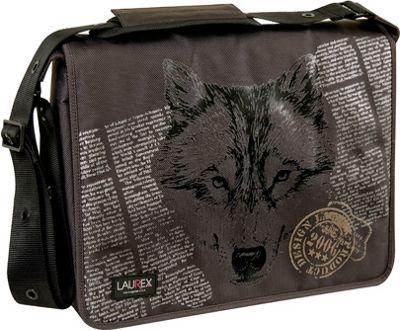 "Laurex 15.6"" Laptop Messenger Bag - Brown Wolf"