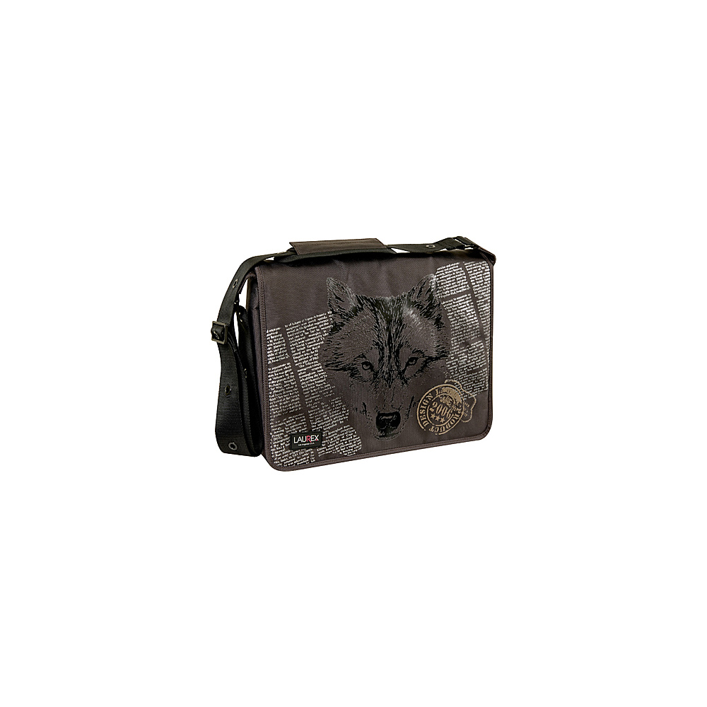 Laurex 15.6 Laptop Messenger Bag Brown Wolf