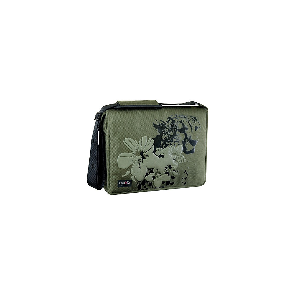 Laurex 15.6 Laptop Messenger Bag Olive Cheeta