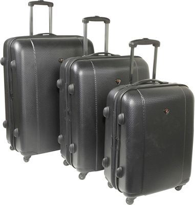 IT Luggage Augusta - 3 Piece Exp. Luggage Set - Black