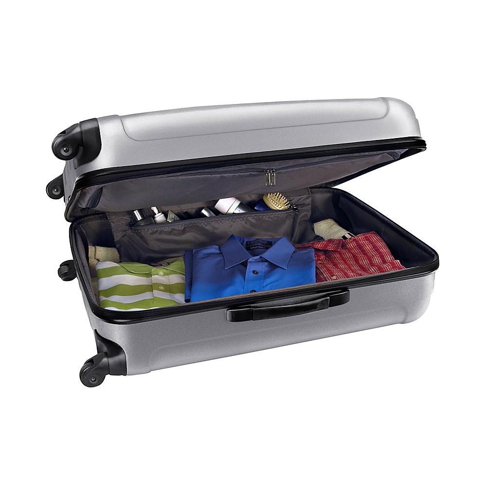 Traveler's Choice Rome 29 in. Hardshell Spinner Suitcase Silver Grey - Traveler's Choice Hardside Checked