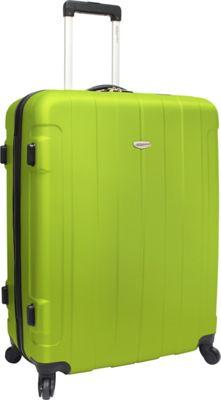Traveler's Choice Rome 29 in. Hardshell Spinner Suitcase Green - Traveler's Choice Hardside Checked