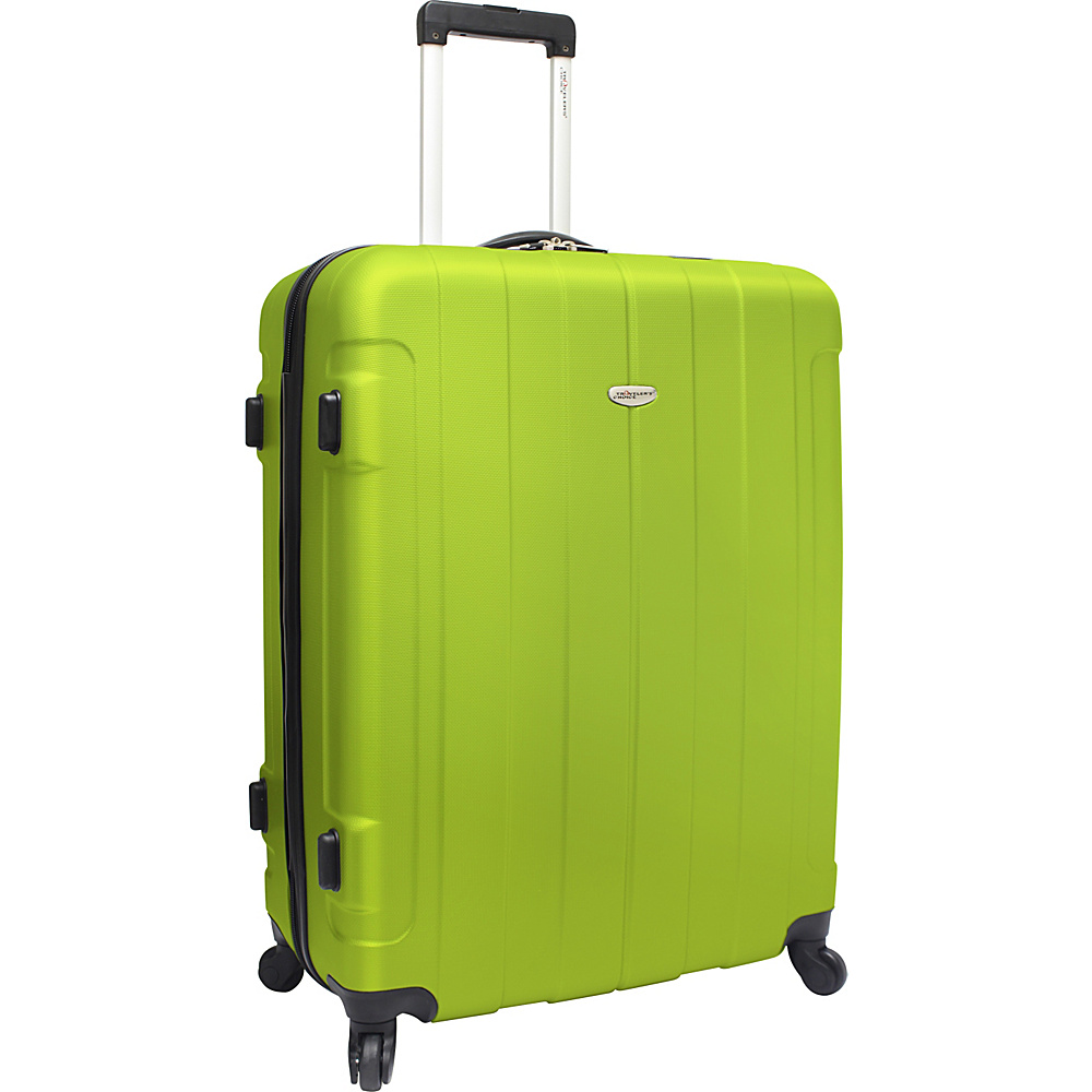 Traveler's Choice Rome 29 in. Hardshell Spinner Suitcase Green - Traveler's Choice Hardside Checked