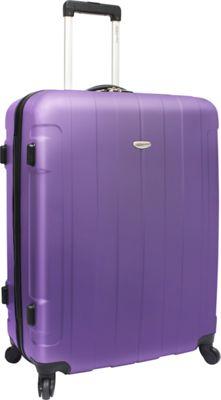 Traveler's Choice Rome 29 in. Hardshell Spinner Suitcase Purple - Traveler's Choice Hardside Checked