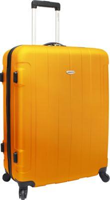 Traveler's Choice Rome 29 in. Hardshell Spinner Suitcase Orange - Traveler's Choice Hardside Checked