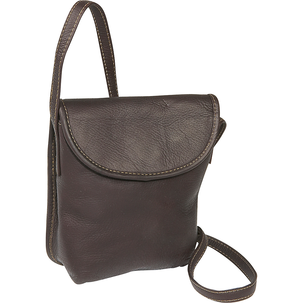 Le Donne Leather Magnetic Flap Mini - Caf - Handbags, Leather Handbags