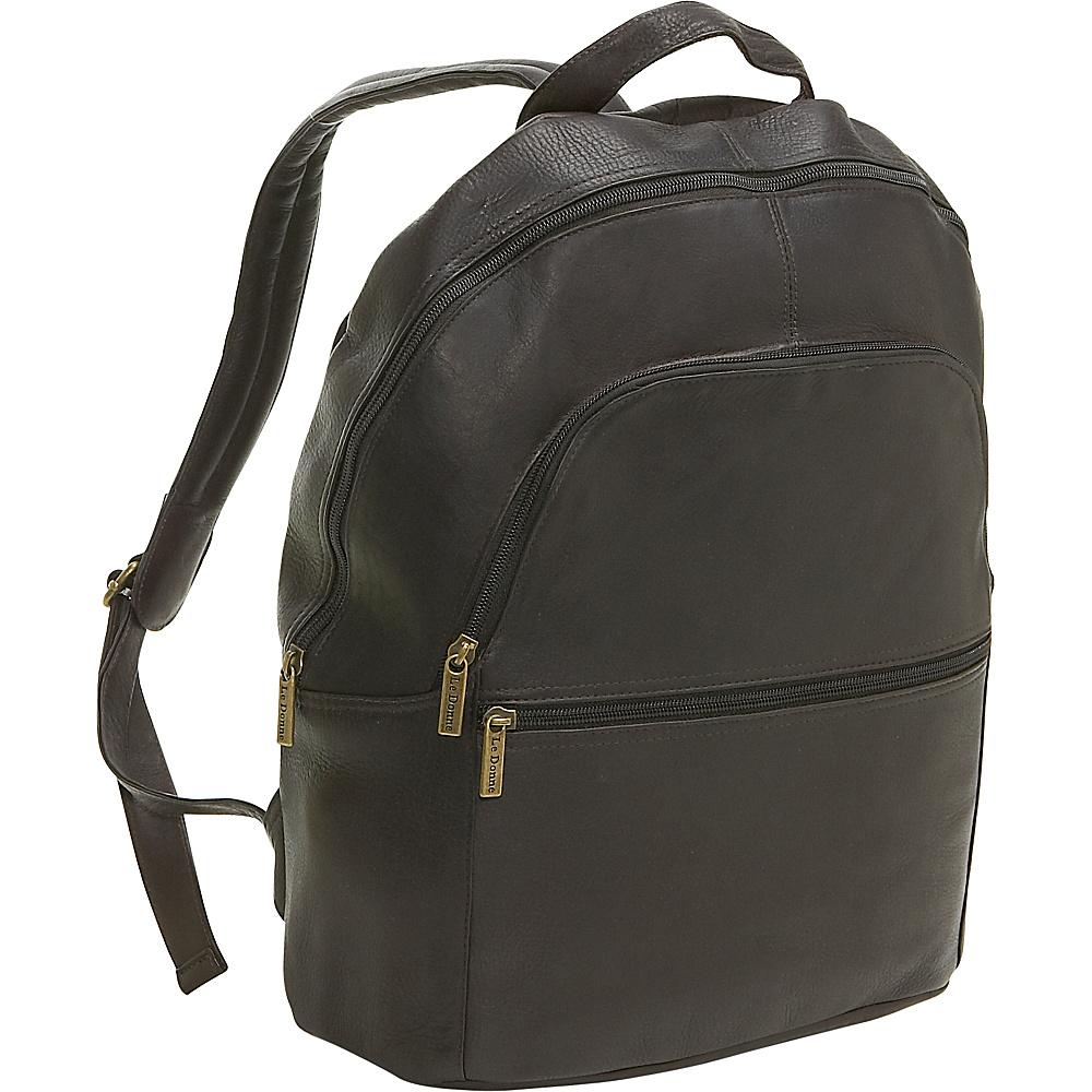 Le Donne Leather Computer Back Pack - Caf - Backpacks, Business & Laptop Backpacks