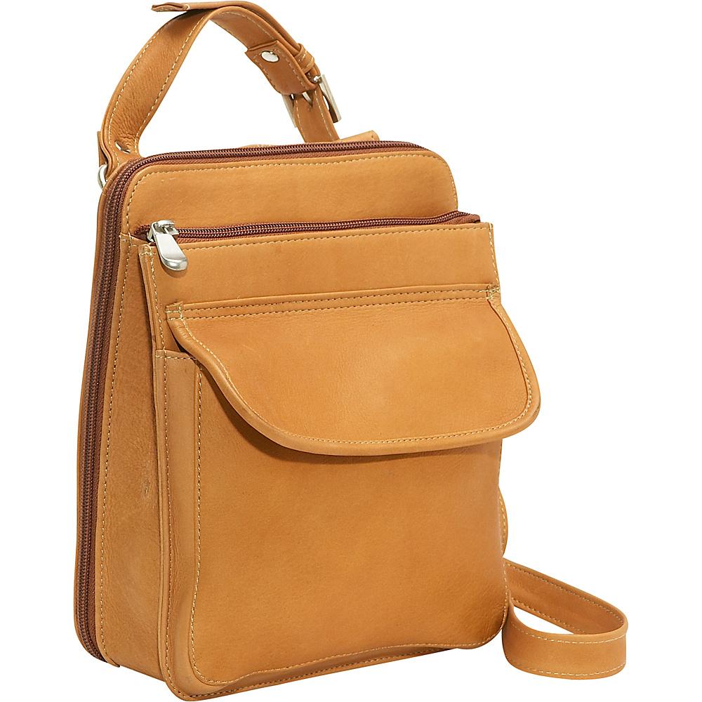 Le Donne Leather Organizer Bag - Tan