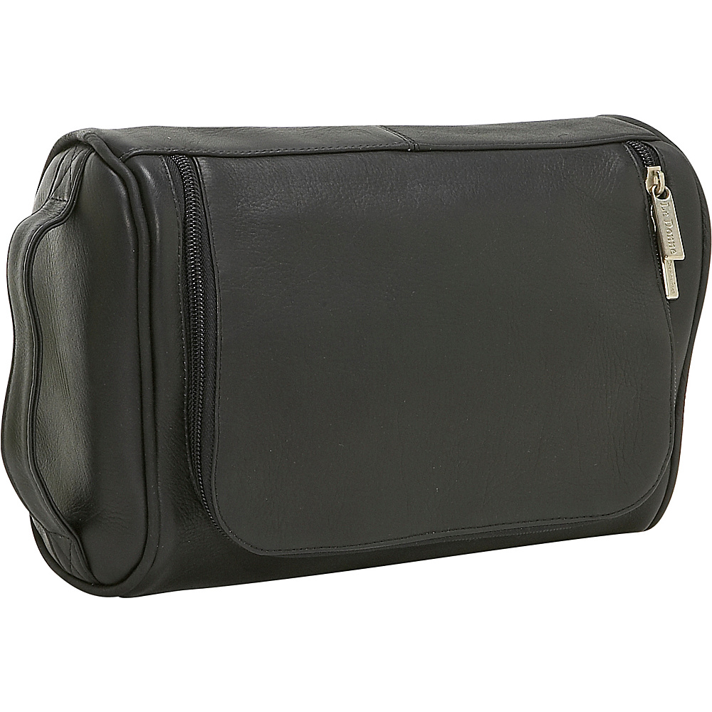 Le Donne Leather Toilietry Bag - Black - Travel Accessories, Toiletry Kits