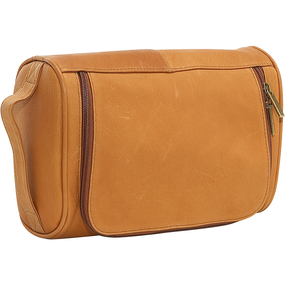 Le Donne Leather Toilietry Bag - Tan - Travel Accessories, Toiletry Kits