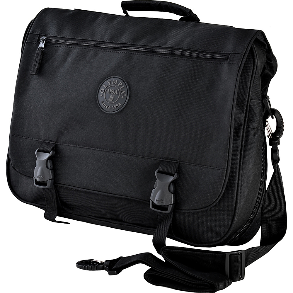 Olympia USA Business Laptop Case Black - Olympia USA Non-Wheeled Business Cases - Work Bags & Briefcases, Non-Wheeled Business Cases