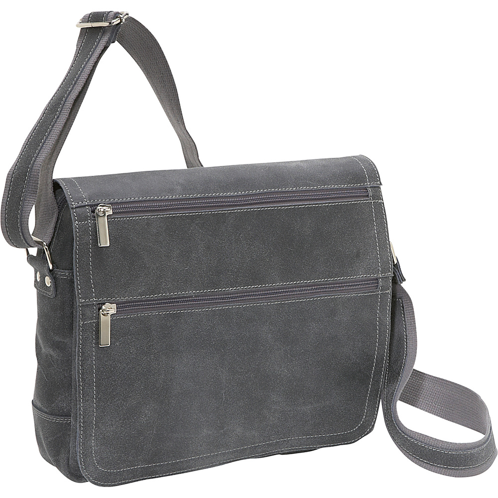 David King & Co. Distressed Leather Laptop / iPad - Work Bags & Briefcases, Messenger Bags